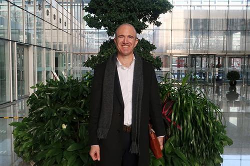 Matt Barnard, Chief Executive Officer of U.S.-based vertical farming start-up Plenty, pictured in Beijing, China on Jan. 17, 2018. Jason LeeReuters