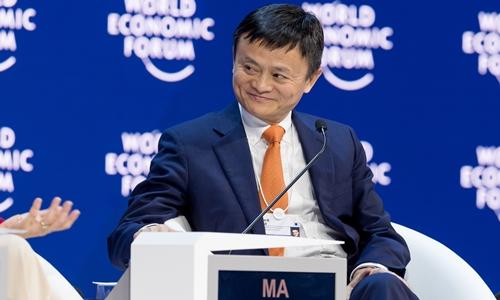 Jack Ma trong phiên thảo luận tại Davos năm nay. Ảnh: Alizila