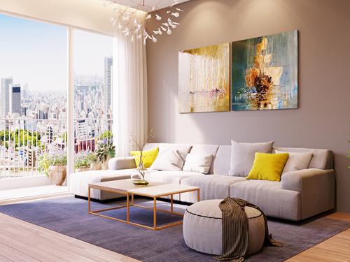 Anh Nguyễn Tiến Dũng đã thiết kế nhiều không gian nội thất căn hộ chung cư theo phong cách rất hiện đại.