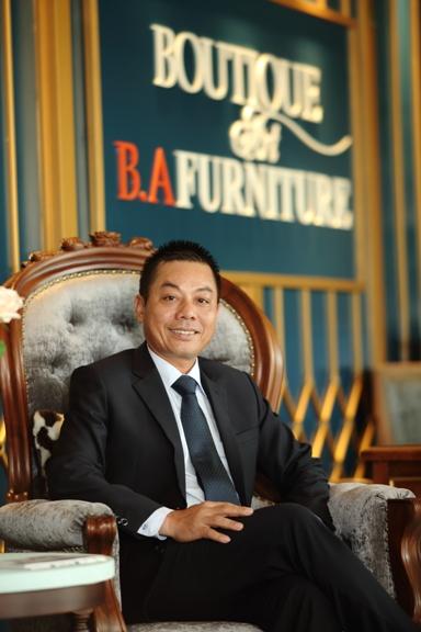 Giám đốc Nguyễn Văn Chương - người xây dựng nên thương hiệu B.A Furniture.