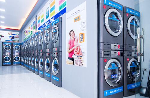 Hệ thống máy giặt hiện đại tại showroom 116 Vĩnh Hưng, q.Hoàng Mai, HN.