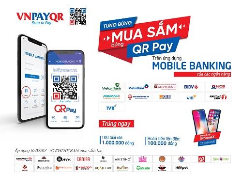 Tặng 100.000 đồng khi trải nghiệm QR Pay trên Mobile Banking