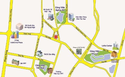 Center Point Cầu Giấy (110 Cầu Giấy, Hà Nội) sở hữu vị trí đắc địa với lợi thế về kinh tế, văn hóa và thương mại.