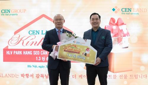Cenlanddành tặng một căn hộ The K - Park trị giá 1,3 tỷ đồng cho ông Park Hang Seo.