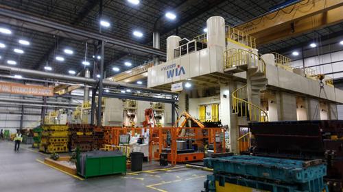 Hệ thống máy móc độc quyền của Hyundai - Kia được đặt trong nhà máy Ajin.