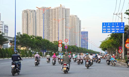 Bất động sản trong nước sẽ đón nhận nhiều nhân tố tích cực khi làn sóng doanh nghiệp FDI (nước ngoài) gia nhập thị trường Việt Nam. Ảnh: Vũ Lê