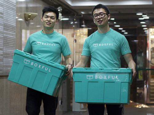 Hai nhà sáng lập Boxful: Carl Wu và Norman Cheung (từ trái sáng phải)