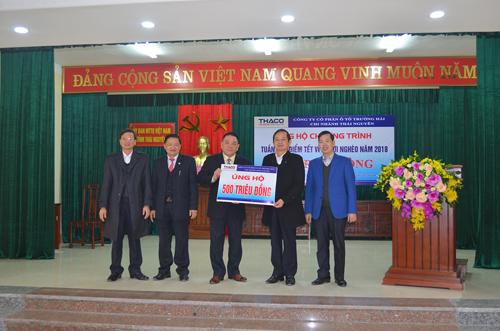 Quỹ Vì người nghèo tỉnh Thái Nguyên nhận ủng hộ 500 triệu đồng.