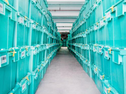 Kho lưu trữ các hộp chứa của Boxful.