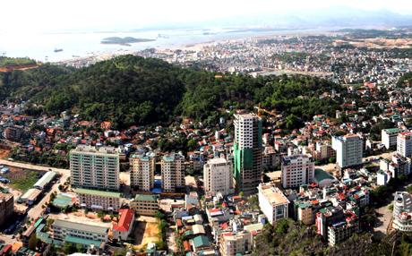 Một góc khu đô thị mới của thành phố Hạ Long.