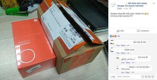 Nhiều thành viên chia sẻ sự bất ngờ về tốc độ giao hàng nhanh của Redmi 5.