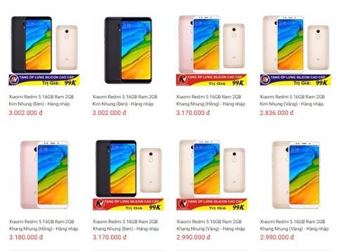 Xiaomi Redmi 5 do Digiworld phân phối tại Việt Nam. Du lịch 4 phương tại đây.