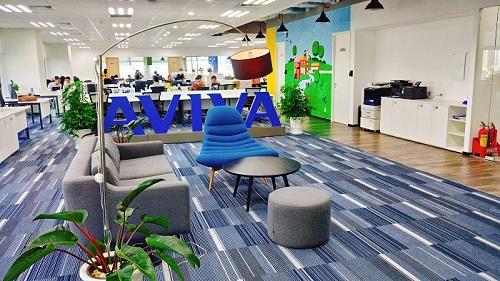 Aviva tọa lạc tại tòa nhà Mapletree, đại lộ Nguyễn Văn Linh, phường Tân Phong, quận 7, TP HCM.