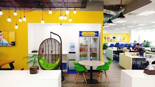 Văn phòng Aviva có thiết kế ấn tượng, mang những nét đặc trưng nổi bật và màu sắc riêng biệt.