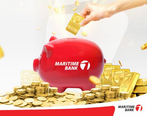 Maritime Bank có nhiều sản phẩm gửi tiết kiệm online.