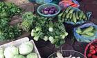 Giá rau xanh chợ tỉnh hạ nhiệt, thành phố tăng