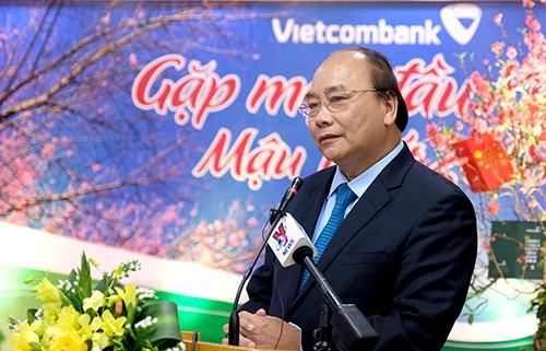 Thủ tướng đề nghị các ngân hàng không ngừng đổi mới, nâng cao chất lượng để trở thành các nhà băng tầm cỡ khu vực châu Á. Ảnh: VGP