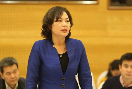Bà Nguyễn Thị Hồng - Phó thống đốc Ngân hàng Nhà nước khẳng định, trong mọi trường hợp quyền lợi hợp pháp của người gửi tiền luôn được đảm bảo. Ảnh: Võ Hải