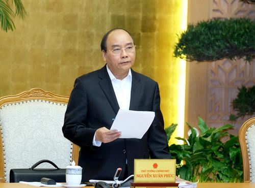 Thủ tướng khẳng định quan điểm nhất quán trong điều hành kinh tế vĩ mô của Chính phủ, tạo thuận lợi cho sản xuất kinh doanh, phát triển bền vững. Ảnh: VGP