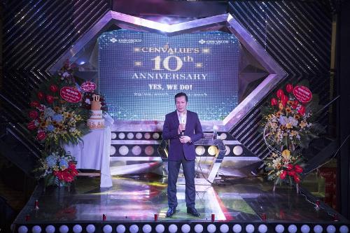 Ông Phạm Thanh Hưng - Tổng giám đốc CenValue chia sẻ tại Lễ kỷ niệm 10 năm thành lập.