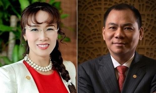 Bà Nguyễn Thị Phương Thảo và ông Phạm Nhật Vượng tiếp tục có tên trong danh sách của Forbes.
