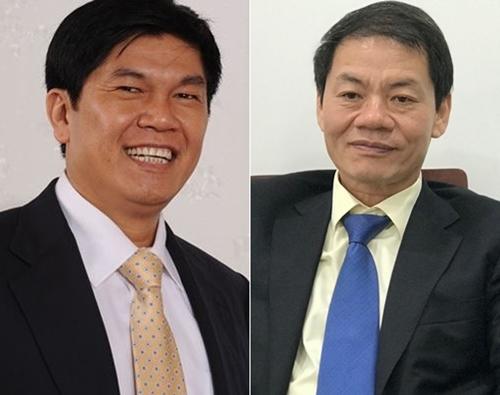 Ông Trần Đình Long (trái) và Trần Bá Dương mới góp mặt năm nay.