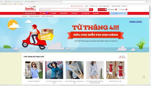 Giao diện Sen Đỏ hướng đến trải nghiệm mua sắm giản tiện cho khách hàng.