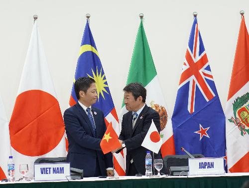 Sau khi Mỹ rút, Nhật Bản là một trong những nước mạnh mẽ ủng hộ ký kết TPP.Ảnh:Viễn Thông.
