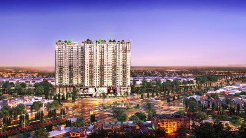 Phối cảnh dự án Khu căn hộ thông minh High Intela nằm ngay mặt tiền đại lộ Võ Văn Kiệtgiới thiệu vào cuối năm 2017.