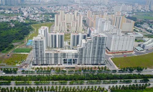 Khu tái định cư Bình Khánh nằm bên Đại lộ Mai Chí Thọ. Ảnh: Quỳnh Trần