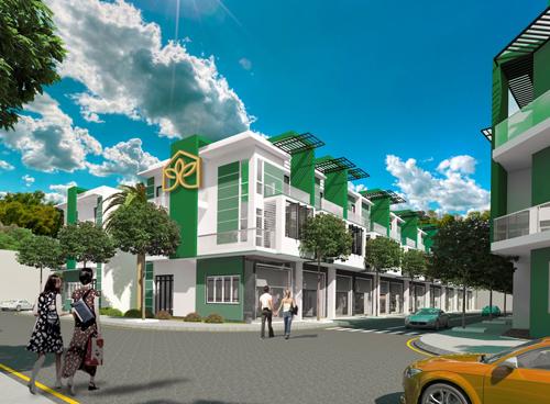 Phối cảnh bên trong khu đô thị kiểu mẫu Biên Hòa Golden Town. Tìm hiểu thông tin về dự án Biên Hòa Golden Town (Xã Tam Phước, thành phố Biên Hòa, Đồng Nai) tại website: http://www.goldentown.com.vn/; http://datxanhdongnambo.com.vn; hotline: 0938 11 0606.