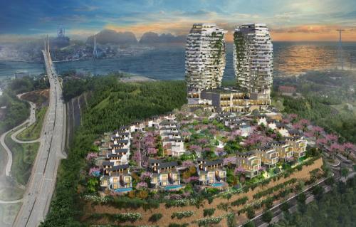Phối cảnh của khu phức hợp Phoenix Legend Ha Long Bay Villas & Hotel.