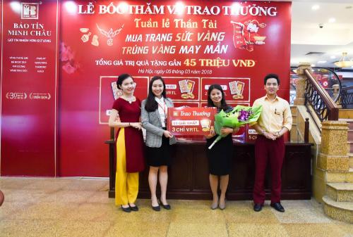 Giải nhất một nhẫn tròn trơn VRTL 3 chỉ trao cho khách hàng Nguyễn Thị Hà.