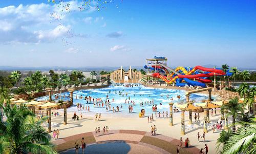 Phối cảnh công viên đại dương Ocean World với vốn đầu tư 300 triệu USD của một dự án nằm trên quốc lộ 13, Thủ Đức, TP HCM có giá nhà đát giao dịch 6-9 tỷ đồng một căn.