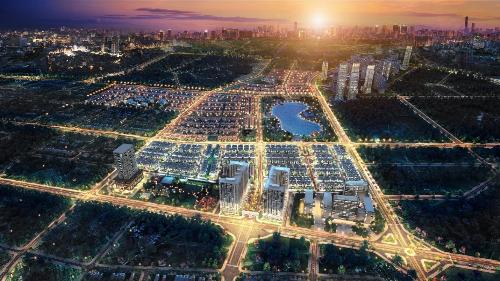 Khu đô thị Dương Nội rộng gần 200 hectađược định hướng cân bằng năng lượng.