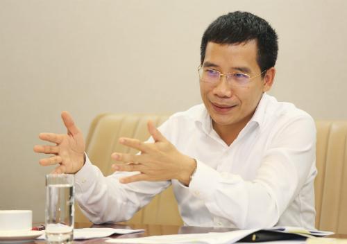 Tổng giám đốc MB, ông Lưu Trung Thái, tự tin Ngân hàng Quân đội có chiến lược, hướng đi khác biệt. Ảnh:DũngMinh.