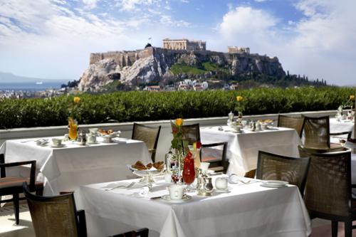 Tầm nhìn hướng thành cổ Acropolis.