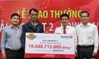 Công nhân An Giang không đeo mặt nạ nhận giải Jackpot 18 tỷ