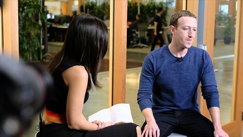Mark Zuckerberg trong buổi phỏng vấn với CNN. Ảnh: CNN