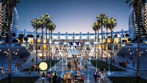 Phối cảnh The Arena phát triển mô hình bất động sản nghỉ dưỡng kết hợp giải trí.