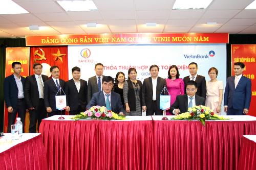 Chủ tịch HĐQT VietinBank Nguyễn Văn Thắng và Chủ tịch HĐQT Hateco Trần Văn Kỳ ký kết thỏa thuận Hợp tác toàn diện.