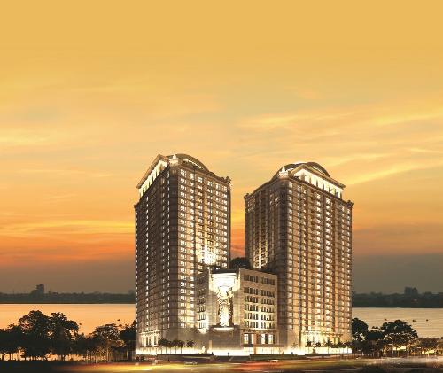 Dự án D. Le Roi Soleil tọa lạc tại 59 Xuân Diệu, Tây Hồ, Hà Nội.