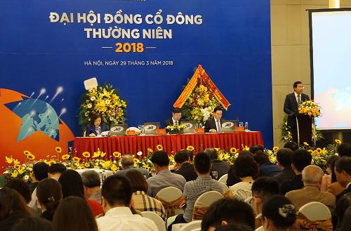 Đại hội đồng cổ đông thường niên năm 2018 của MBBank được tổ chức sáng nay. Ảnh: Minh Sơn