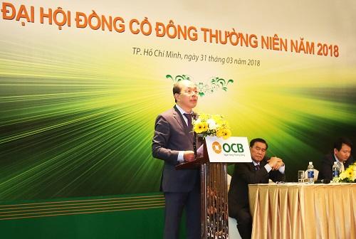 Ông Trịnh Văn Tuấn, Chủ tịch HĐQT Ngân hàng TMCP Phương Đông (OCB) cho biết mục tiêulợi nhuận của ngân hàng năm 2018 là 2.000 tỷ đồng, tăng gần gấp đôi so với cùng kỳ năm ngoái.