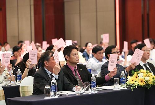 Các đại biểu dự Đại hội cổ đông thường niên của OCB ngày 31/3/2018.