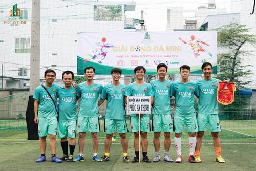 Giải thi đấu bóng đá nội bộ của Phúc An Thịnh.