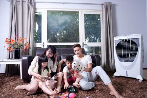 Máy làm mát không khí Symphony bảo vệ sức khỏe cho cả gia đình.