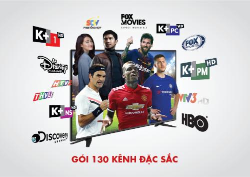 Gói Premium+ với hơn 130 kênh mang đến nhiều chương trình giải trí phong phú và đặc sắc