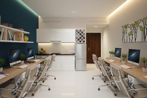 Phối cảnh căn hộ văn phòng (Officetel) tại Golden King Phú Mỹ Hưng.