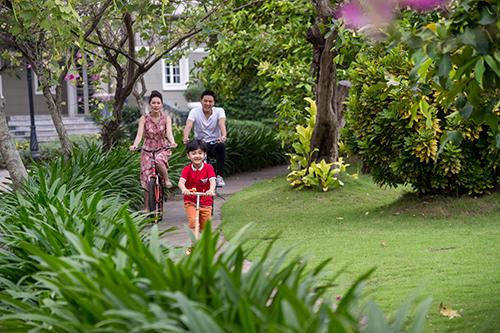 Sống xanh giữa đô thị hiện đại là niềm mơ ước của nhiều gia đình thành đạt